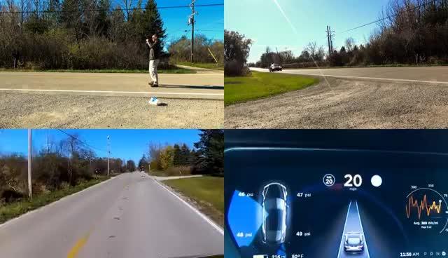 Trying To Kill My Friend Tesla Autopilot Saves Him Gif Find Make Share Gfycat Gifs