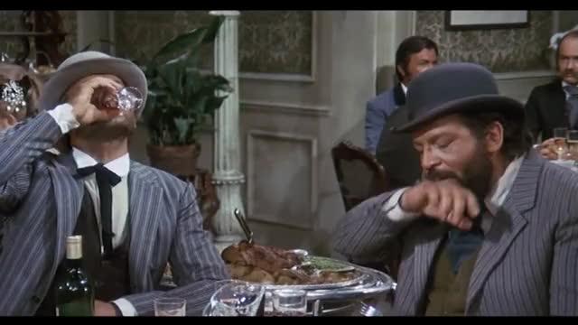 Bud Spencer Terence Hill Im Schicken Restaurant Vier Fäuste Für