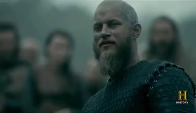 His fault Ragnar Lothbrok, Vikings, Ragnars plan, lift the boats, what i say, attack paris, bjorn, lagertha, haraldson, floki, paris raid, history GIF