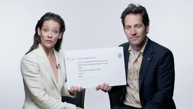 Watch 'Ant-Man and the Wasp' Cast Answer the Web's Most Searched Questions | WIRED GIF on Gfycat. Discover more ant man, ant-man, ant-man 2, antman, autocomplete, celebrity, celebs, evangeline lilly, google autocomplete, michael douglas, paul rudd, wasp, wired autocomplete GIFs on Gfycat