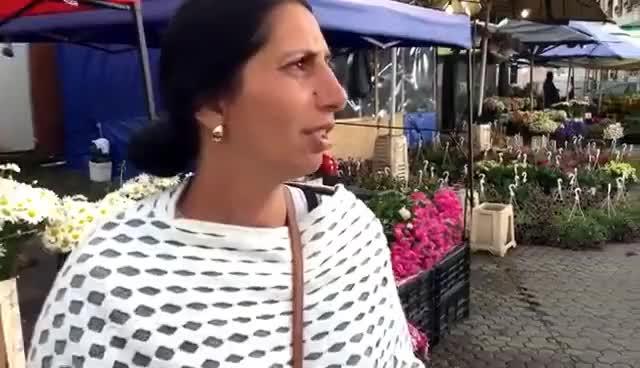 Watch and share Piața De Flori - Crizantema Nu Costă 300 De Ron, Ca La Primărie - 2016 GIFs on Gfycat