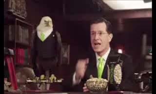 Watch and share Stephen Colbert Fistbumps Eagle GIFs on Gfycat