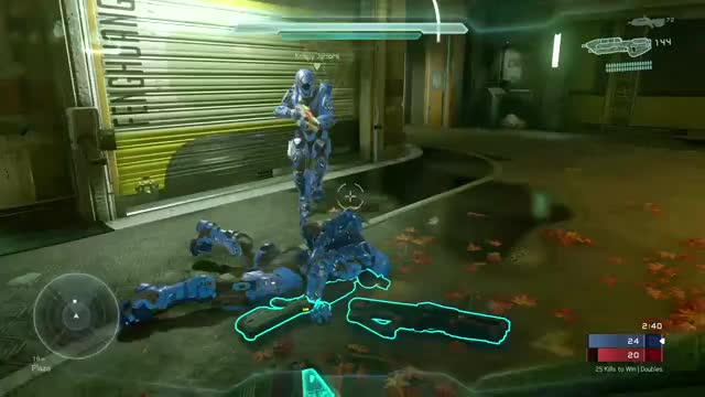 Watch Teamwork is key on doubles. GIF on Gfycat. Discover more gaming muster, halo5, xboxone GIFs on Gfycat