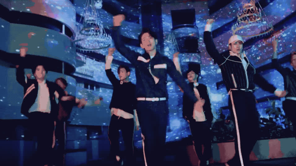 band, boy, dance, dancer, dancing, excited, got7, hands, happy, look, party, perform, yeah, Got7 - Look m v GIFs