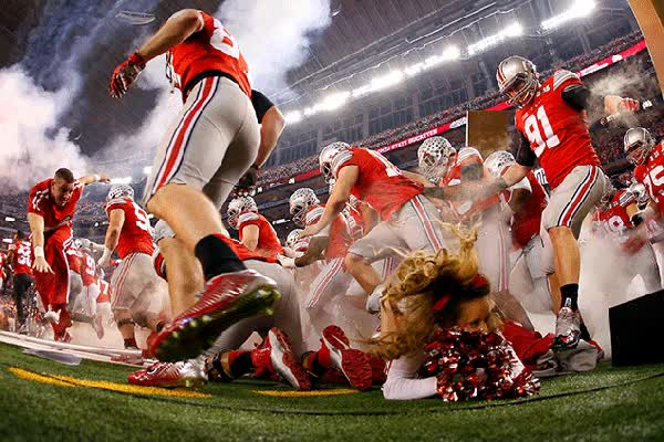 Watch and share Ohio State Cheerleader Trampled GIFs on Gfycat