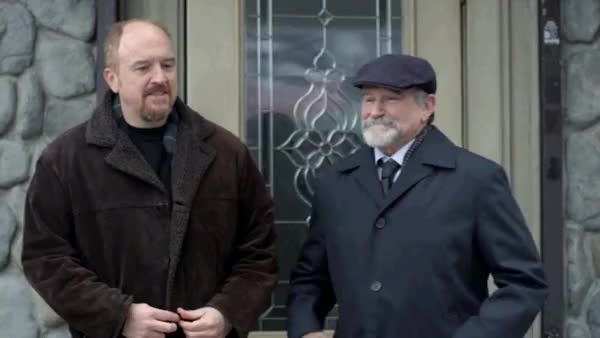 Watch and share Louis C.K. Promises To Go To Robin Williams' Funeral GIFs on Gfycat
