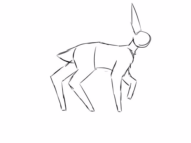 Watch and share Deer Walkcycle (complete Sketch) GIFs by dandynami on Gfycat