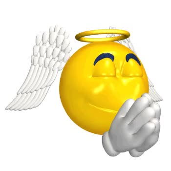 Watch and share Animated Angel Emoticon Praying Wht GIFs on Gfycat