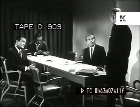 Watch and share Late 50s Early 60s Business Meeting, Businessmen GIFs on Gfycat