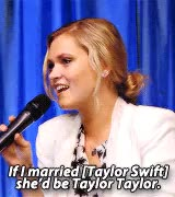 Watch and share Eliza Taylor GIFs and Taylor Swift GIFs on Gfycat