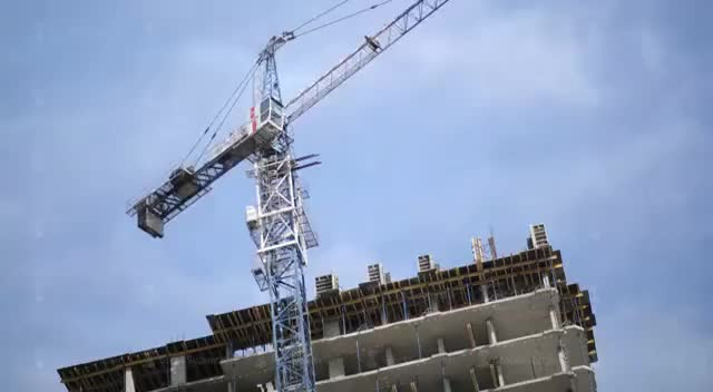 Watch and share Time-lapse, Tower Crane. Construction Of A Residential Home GIFs on Gfycat