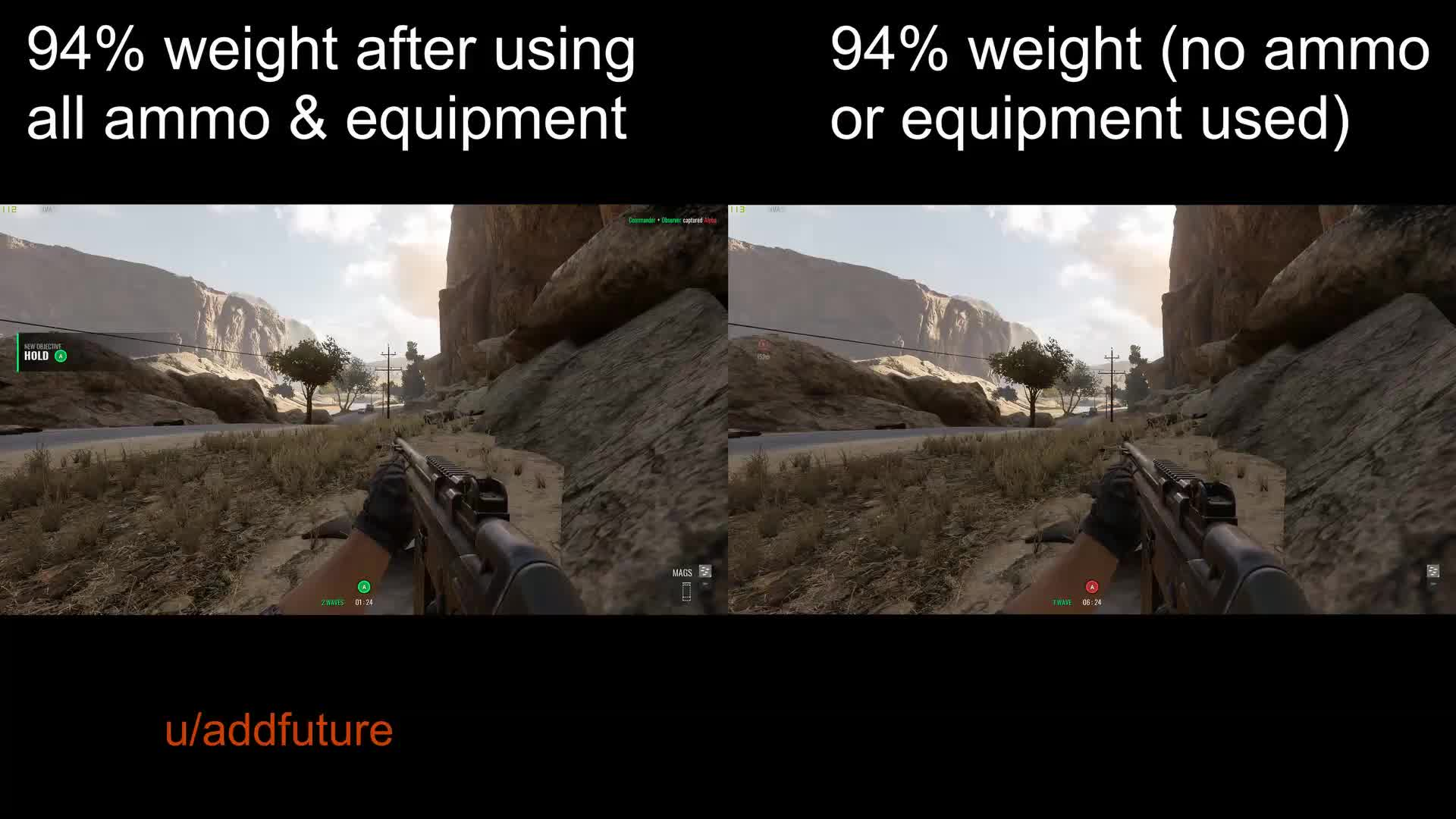 gaming, Insurgency Sandstorm weight comparison GIFs