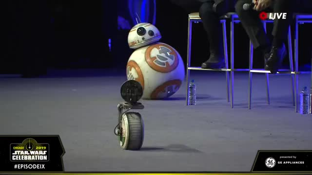 Watch this trending GIF on Gfycat. Discover more Entertainment, Lucasfilm, SWCC 2019, Star Wars, Star Wars Celebration Chicago 2019, Star Wars: Episode IX GIFs on Gfycat