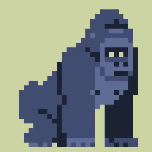 Watch and share Pixel Art GIFs and Gorilla GIFs on Gfycat