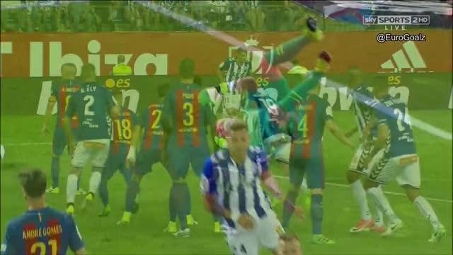 Barcelona 1-1 Alaves (Theo 33') - Great Free Kick  AA/Replays