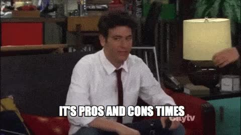 Watch and share How I Met Your Mother - Pros And Cons Time! GIFs on Gfycat