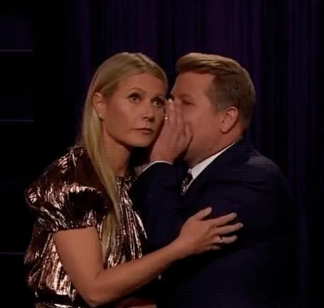 Watch and share Gwyneth Paltrow GIFs and James Corden GIFs by Reactions on Gfycat