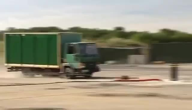 Watch and share Crash Test Month Truck Hitting A Bollard GIFs on Gfycat