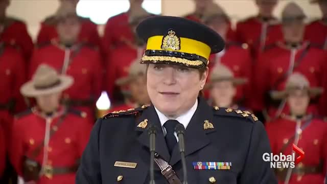 Watch Iconic Canadian Mounties collapse during appointment of new commissioner GIF on Gfycat. Discover more All Tags, CNN, RCMP, Regina, Saskatoon, Viral, mounties, saskatchewan, trending, world GIFs on Gfycat
