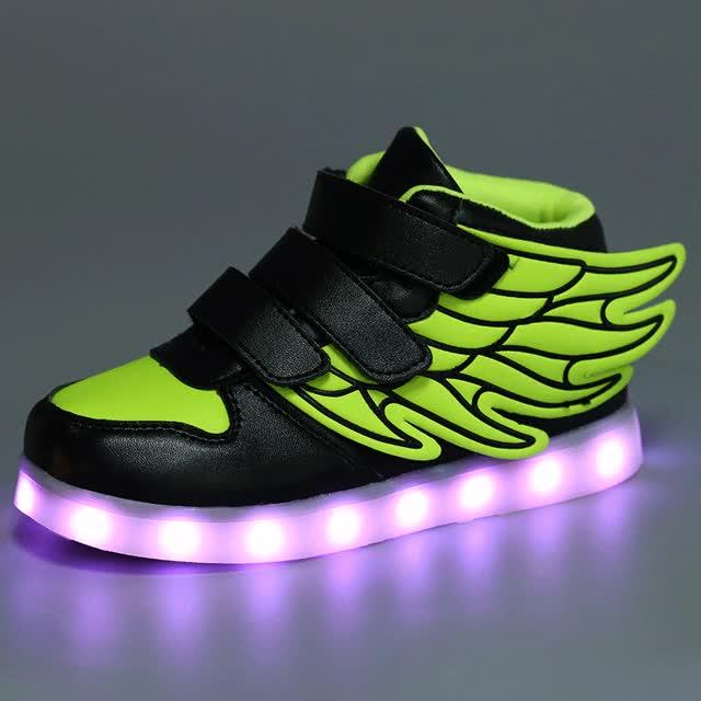 Watch and share New Kids Light Up Font Shoes Font Led Luminous Font Sport Font GIFs on Gfycat