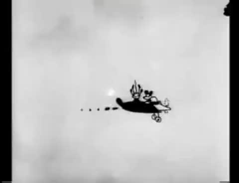 Watch and share Plane Crazy Mickey Mouse Classic Walt Disney 1928 Sound Cartoon GIFs on Gfycat