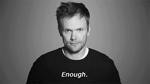 Watch and share Joel Mchale GIFs and Enough GIFs on Gfycat