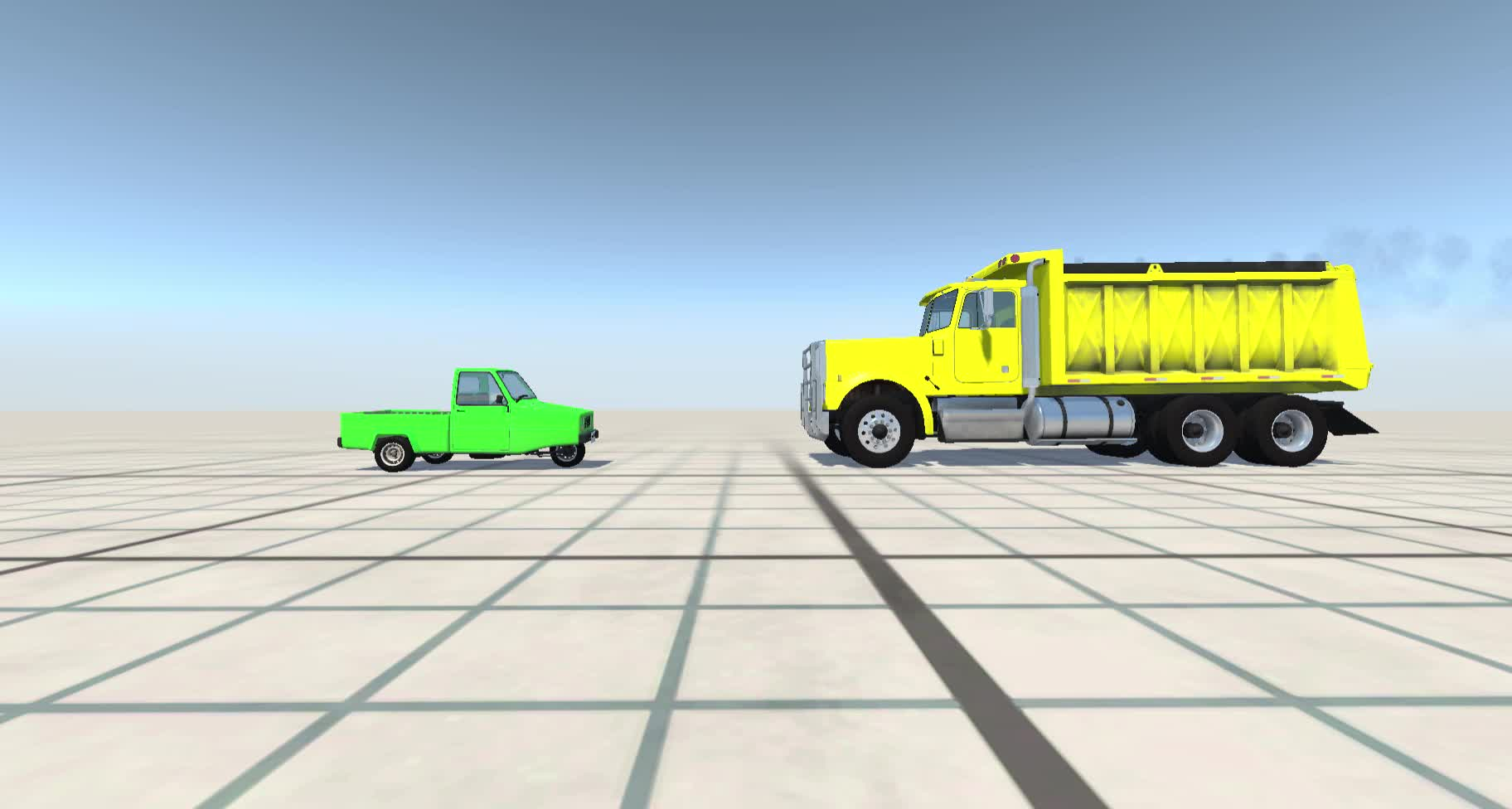 Car, Game Physics, Size_Difference, Truck, car, game physics, size_difference, transportation, truck, trucks, Bigger Truck GIFs