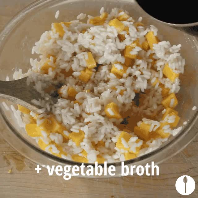 Watch and share Fancy Microwave Butternut Squash Risotto GIFs on Gfycat