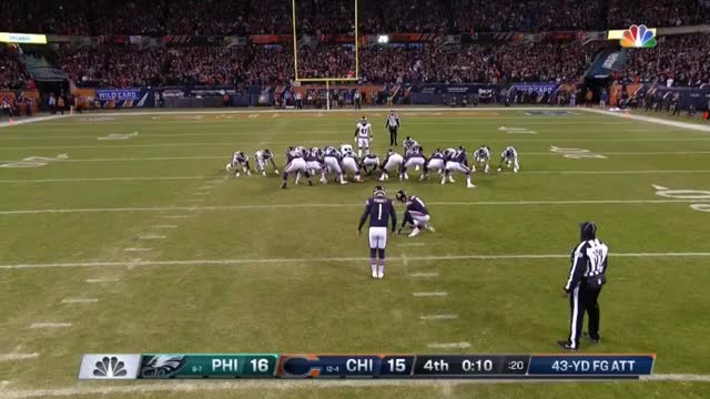 Watch and share  PHI Vs CHI - Cody Parkey Missed 43 Yard FG GIFs on Gfycat