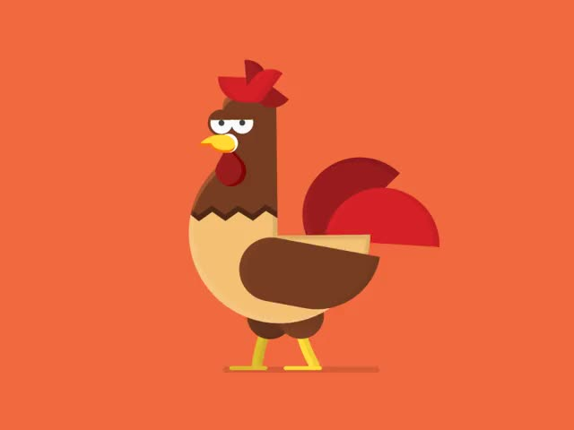 Watch Hey guys,new character animation for project.Christmas chicken comes GIF on Gfycat. Discover more related GIFs on Gfycat