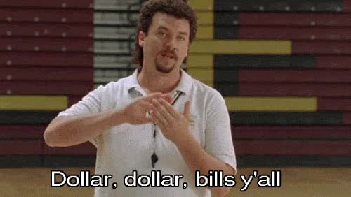 Watch and share Danny Mcbride GIFs and Dollar Bills GIFs on Gfycat