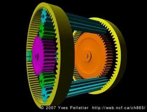 Watch and share Ravigneaux Compound Planetary Gear Set GIFs on Gfycat