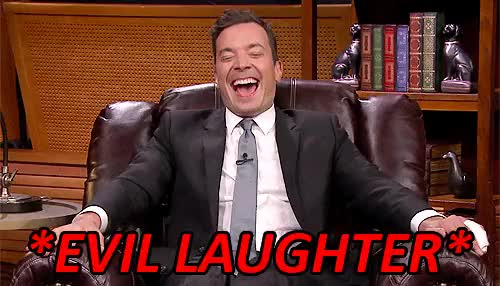 Watch this GIF on Gfycat. Discover more AHHH, evil laughter, fallon tonight, jimmy fallon, my gifs, the tonight show GIFs on Gfycat