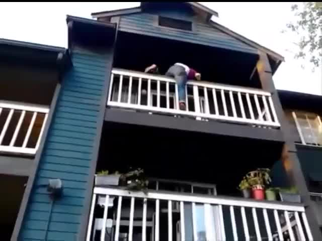 Watch and share Girls Falls Off Balcony GIFs on Gfycat