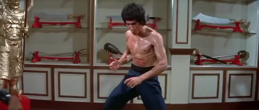 ufc, Bruce Lee's Hardest Kick Ever GIFs