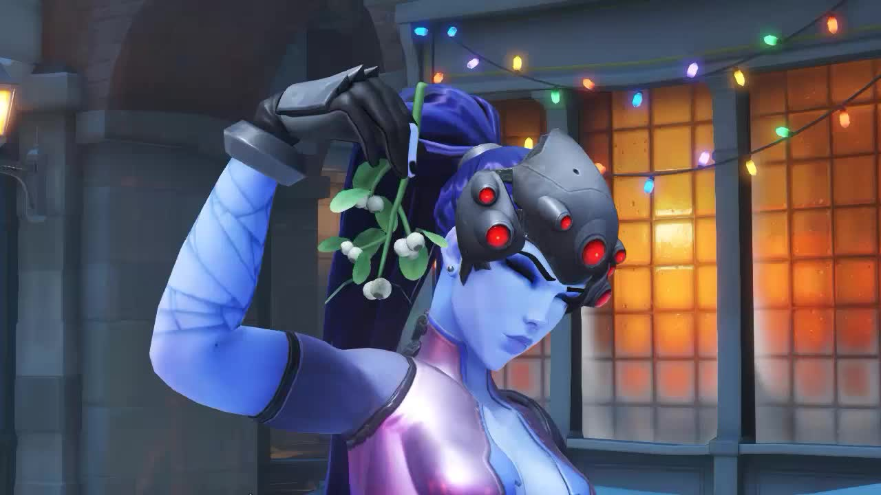 overwatch, ow, widowmaker, [Overwatch] Widowmaker Christmas Highlight intro GIFs