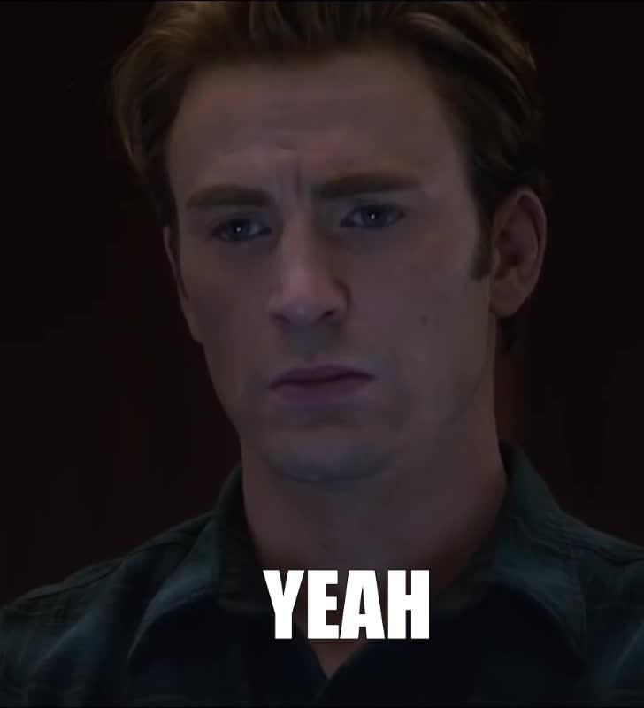 avengers, avengers endgame, celebs, chris evans, marvel, yeah, yes, Avengers Endgame Yeah GIFs