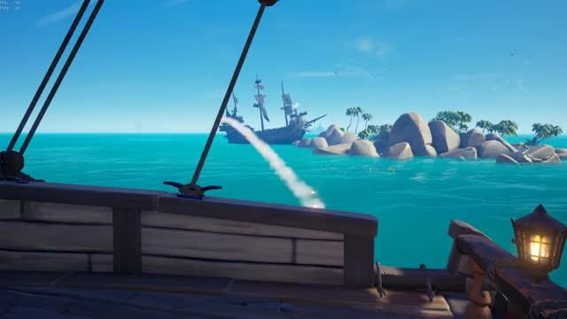 Watch and share Ghost Ship Over Island GIFs by lukeeatspanda on Gfycat