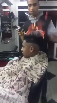 Watch and share Haircut GIFs and Fire GIFs on Gfycat