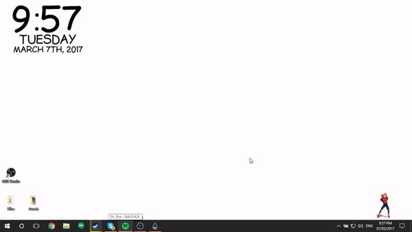 Watch and share Rainmeter GIFs and Spiderman GIFs by enlighter66 on Gfycat