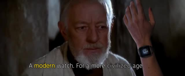 alec guinness, the Pebble is a jedi's watch GIFs