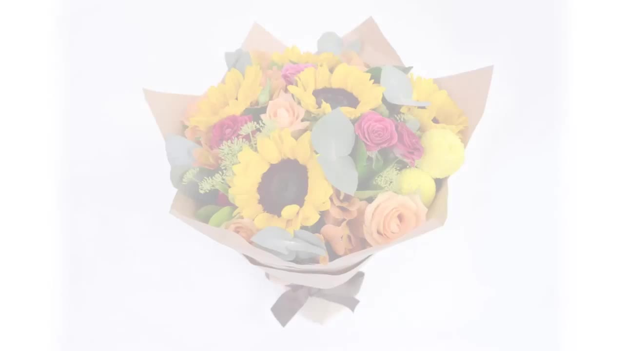 bouquet, flowers, roses, sunflowers, How to arrange an Enchanted Roses and Sunflowers Bouquet GIFs