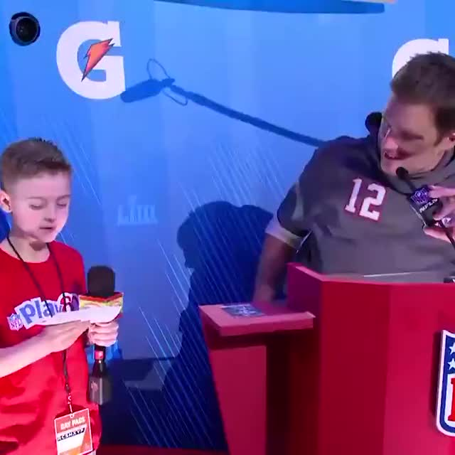 Watch and share Tom Brady's Wholesome Response When A Young Fan Asked Him How He Deals With The Haters GIFs by KSG on Gfycat