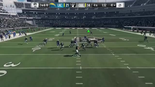 Watch Madden 18 Gameplay - Los Angeles Chargers vs. Oakland Raiders NO COMMENTARY (1080p 60fps) GIF by @strawberryshortcake on Gfycat. Discover more madden 18, madden 18 gameplay, madden 18 gameplay no commentary GIFs on Gfycat