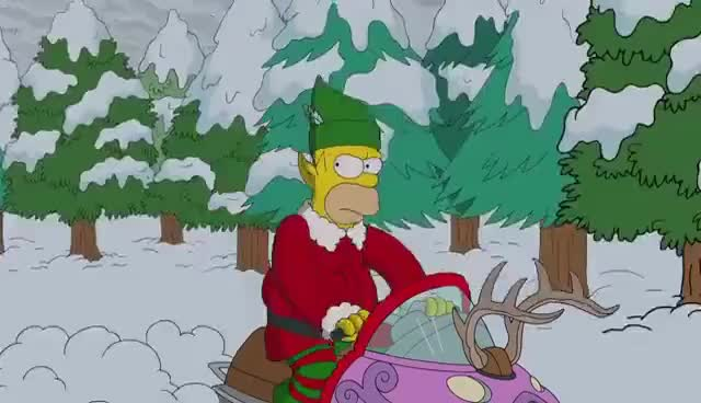 Watch and share The Couch Gag Before Christmas | Season 26 Ep. 9 | THE SIMPSONS GIFs on Gfycat