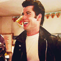grease, john travolta, laughing, Grease GIFs