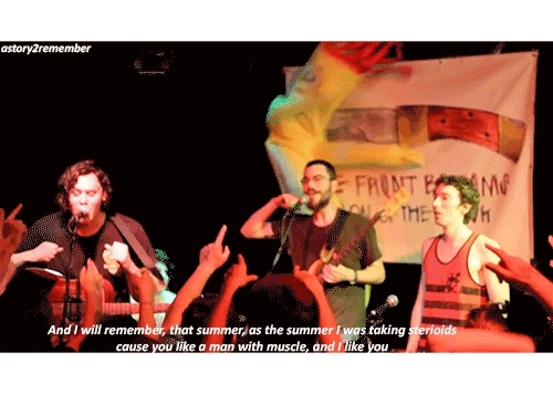 Talon of the Hawk, brian sella, gif, lyrics, matt uychich, pizza, pop punk, poppunk, punk, the Front bottoms, the front bottoms lyrics, The Beers // The Front Bottoms GIFs