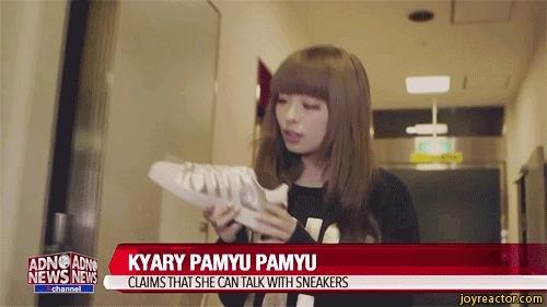 girl talk sneakers GIFs
