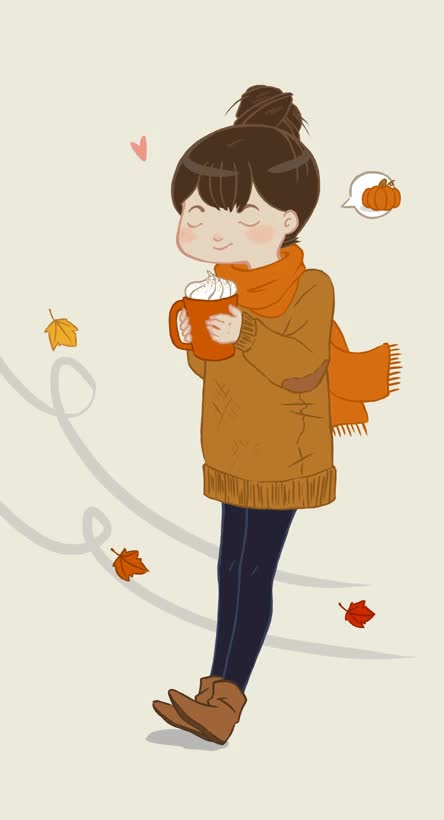 Watch and share Autumn, Coffee, Comfy, Cozy, Fall, Gif, Girl, Warm GIFs on Gfycat