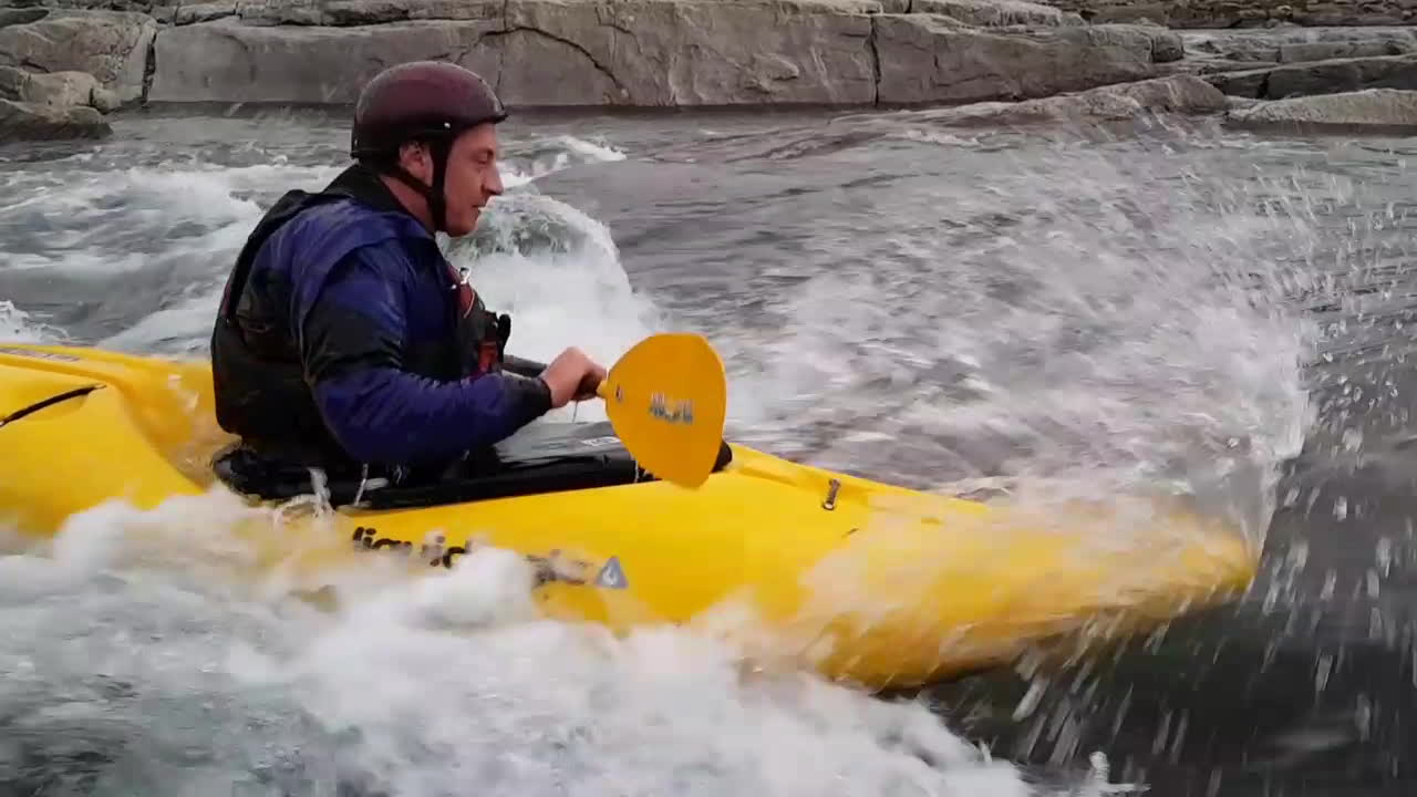 arctic, kayak, surfing, Surfing Sylvia Grinnel's Lower Left Chute (Short) GIFs